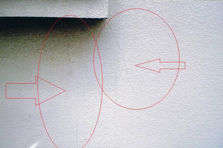 地震による壁面亀裂