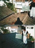 屋根工事 瓦→コロニアル葺き